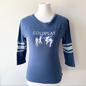 Vintage Coldplay Music Tour T- Shirt 2005 Medium